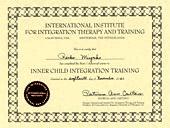 「インナーチャイルドヒーリングセラピスト養成講座/基礎・上級」修了証