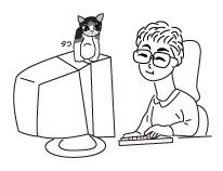 タラと私とパソコン